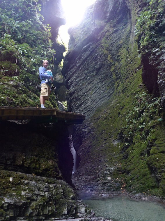 Soča Kozjak Wasserfall Kobarid