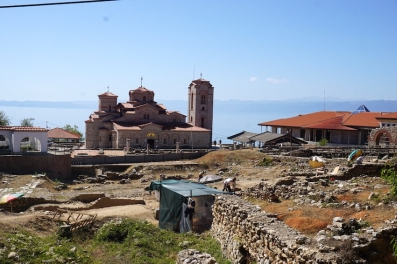 Ausgrabungsstätte in Ohrid.