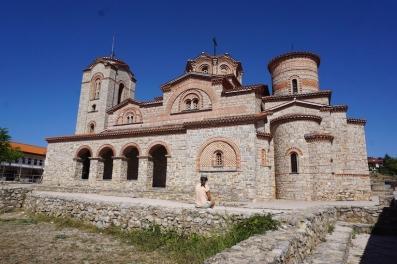 Restaurierte Kirche in Ohrid.