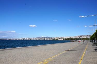 Die Promenade von Thessaloniki.