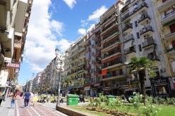 Einkaufsstraße in Thessaloniki.