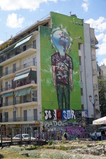 Univiertel von Thessaloniki.