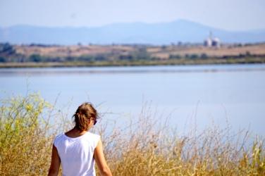 Pause während der Fahrt zum Vistonida See.