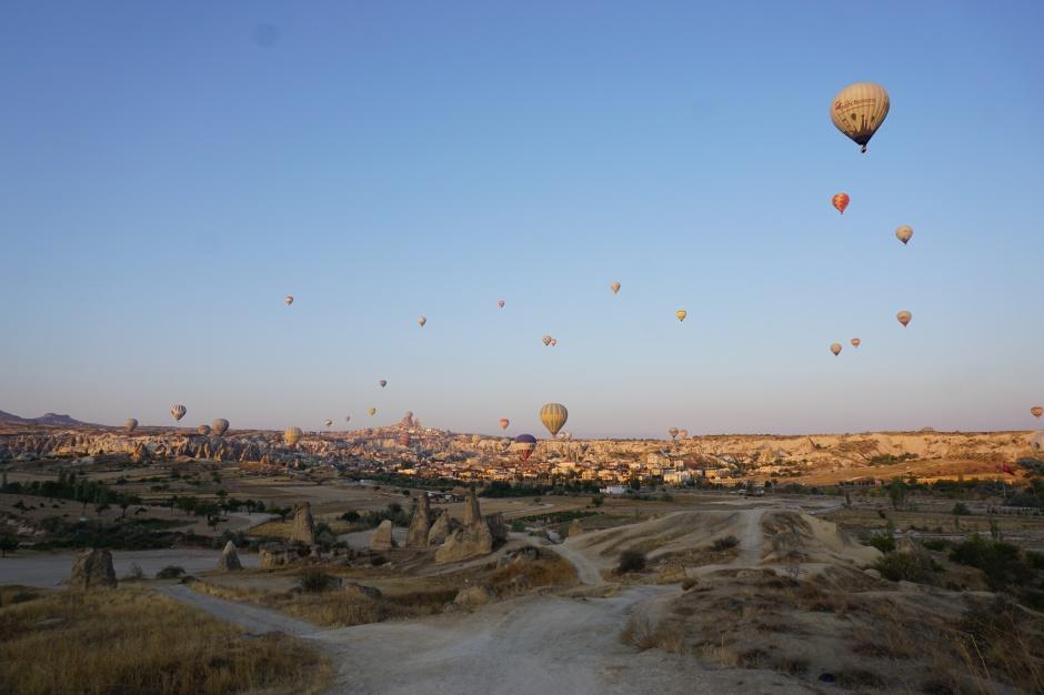 Kappadokien, Türkei, Heßluftballonfahrt