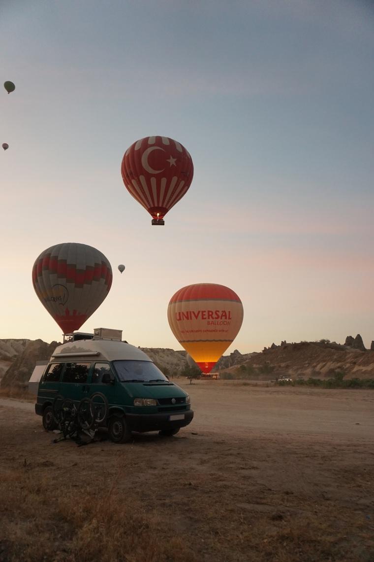 Kappadokien, Türkei, Heißluftballonfahrt