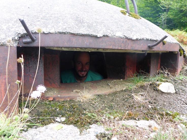 In einem Bunker von Enver Hoxha in Albanien.