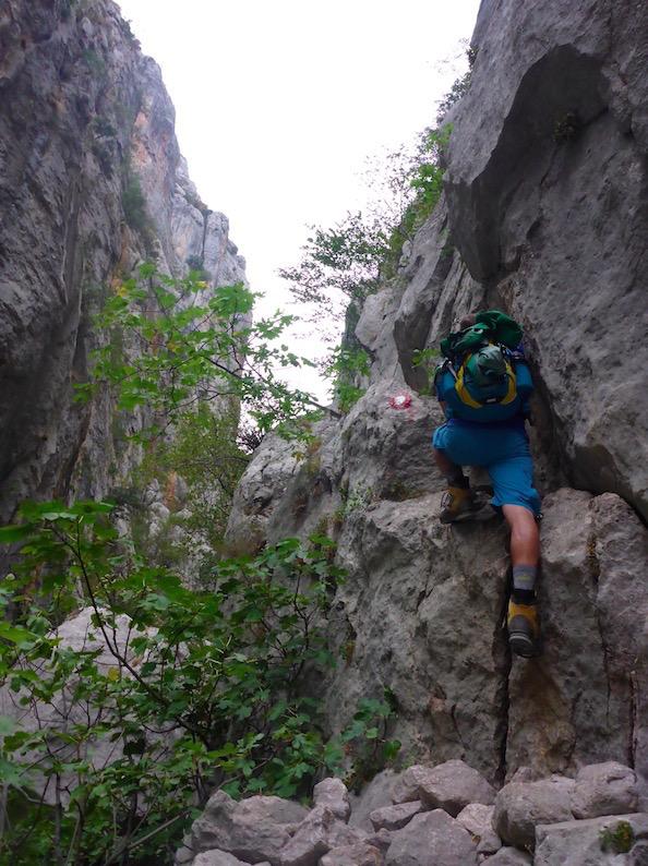 Nationalpark Paklenica Wandern kleine Schlucht