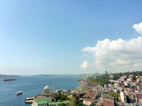 Blick auf den Bosporus.