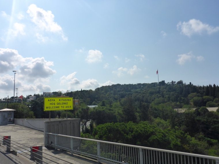 Asien Brücke der Märtyrer/ Bosporus Brücke Istanbul