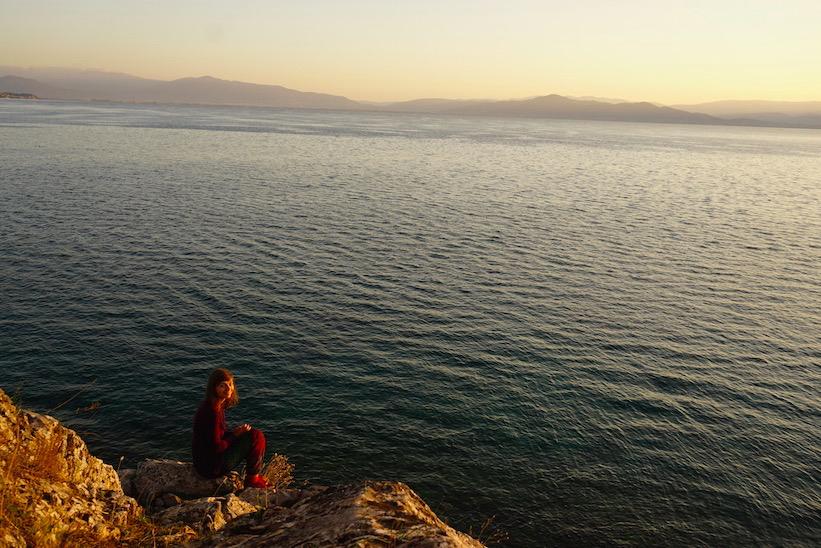 Sonnenaufgang Ohrid See Albanien