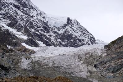 Der obere Teil des Gletschers.