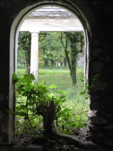 Aussicht in den Park von Zkaltubo.