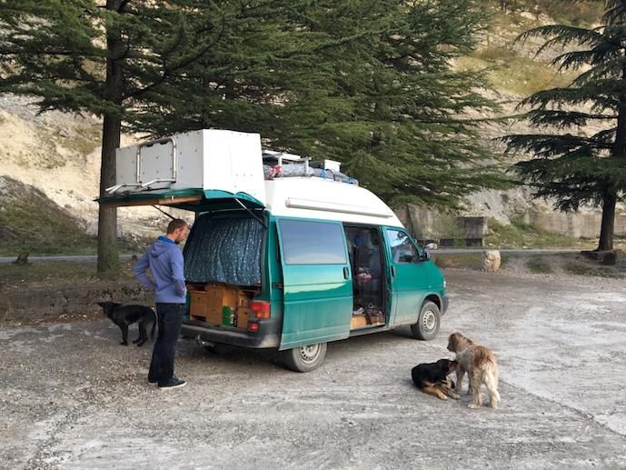 Hunde Georgien Mestia Swanetien Enguri Stausese Poti Roadtrip Overland