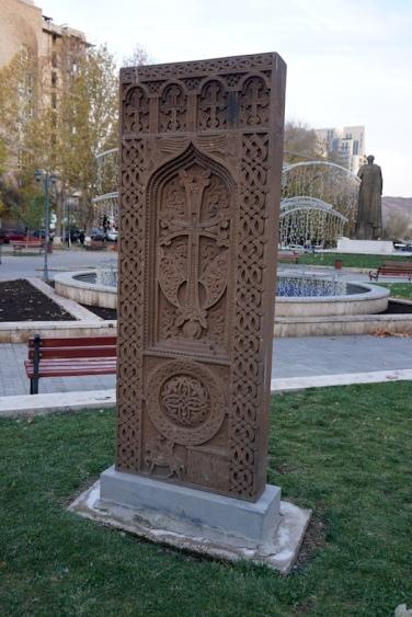 Ein Chatschkar (armenischer Kreuzstein)