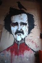 Straßenkunst; Edgar Allan Poe.