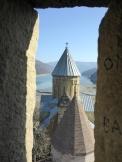Blick vom Burgturm auf Ananuri.