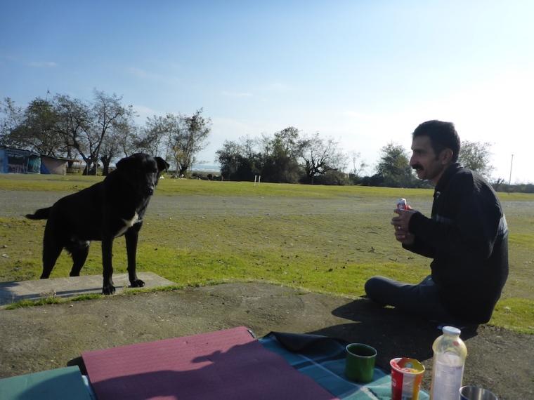 Der Stalker und sein Hund.