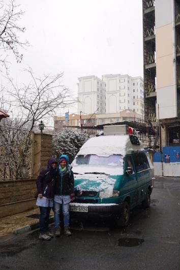 Schneefall in Teheran.