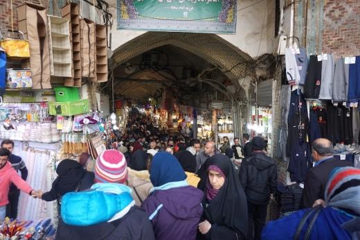 Eingang zum Großen Bazar von Teheran.