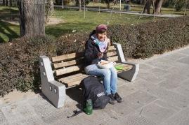 Mittagspause im Park.
