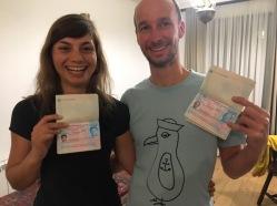 Endlich haben wir die Visa!