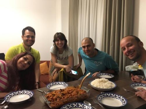 v.l.: Shirin, Farzan, Zohre, Amir, Eini