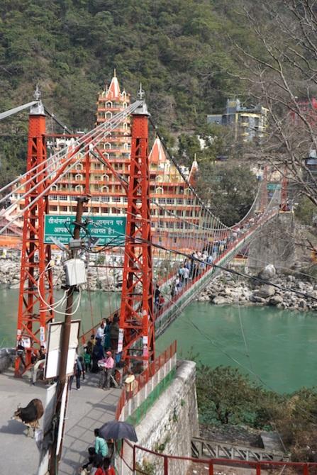 Hängebrücke am Ganges.