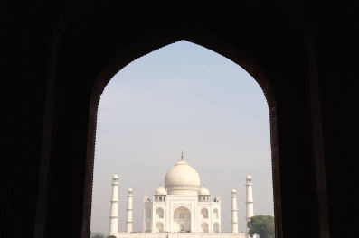 Das Taj Mahal ohne Menschen.