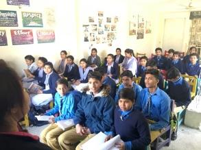Besuch der Schule.