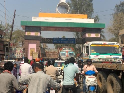 An der Grenze in Sonauli.