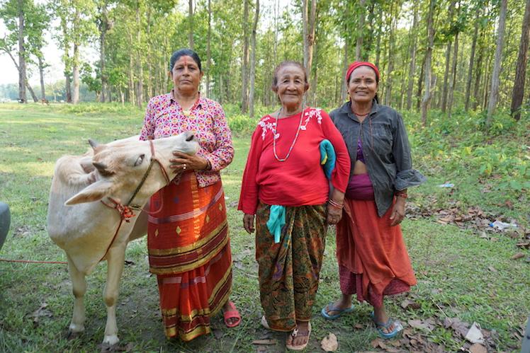 Selbstbewusste Nepalesinnen.