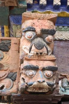 Tempelverzierung in Bandipur.