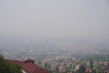 Aussicht (oder eben nicht) auf Kathmandu.