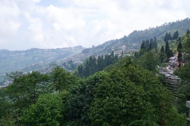 Aussicht auf Darjeeling.