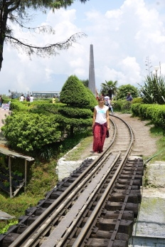 Spaziergang an den Gleisen.
