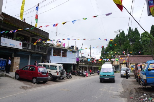 WM-Fahnen in Darjeeling.
