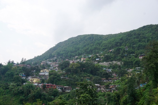 Siedlung in den Bergen.