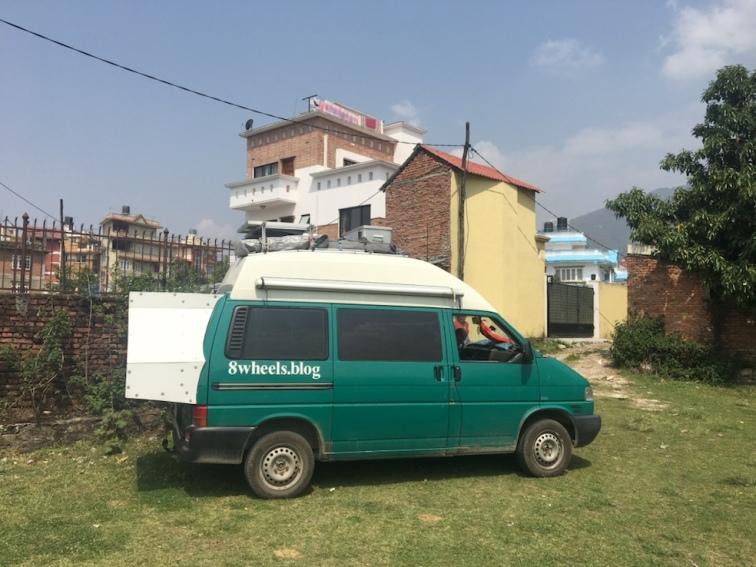 Stellplatz in Kathmandu.