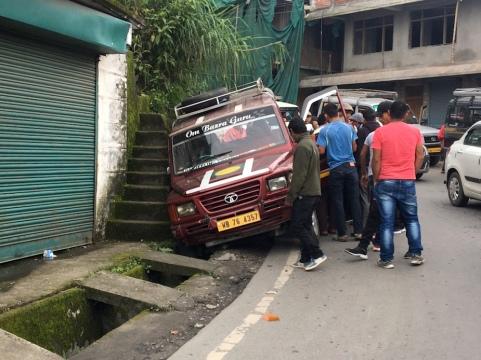 Stauursache in Darjeeling.