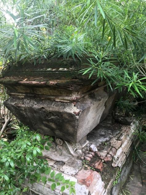 Dichter Dschungel bedeckt die Gräber.