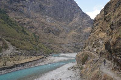 Das Flusstal.