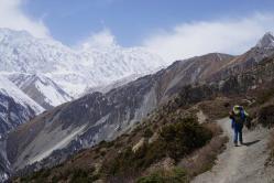 Aussicht auf den Khangsar Kang.