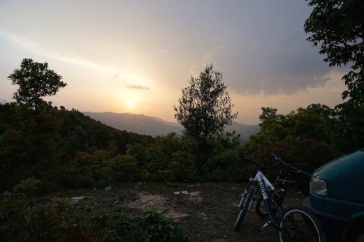 Pünktlich zum Sonnenuntergang.