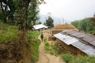 Der Hausbau nach dem Erdbeben dauert an.