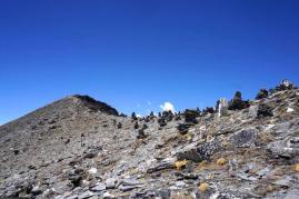 Am Pass vor dem Gipfel.