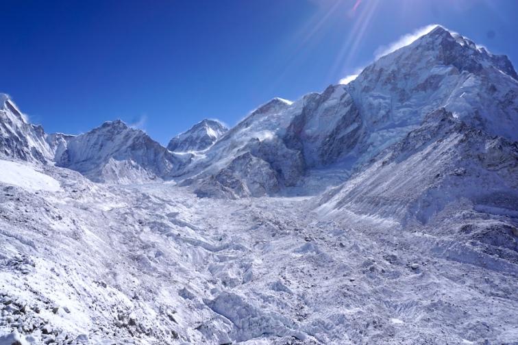 Der Gletscher.