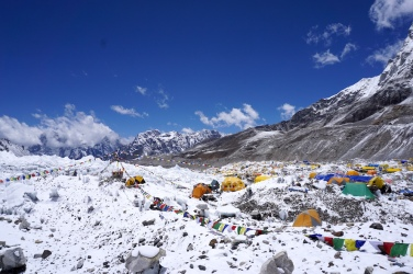 Das Everest-Basecamp.