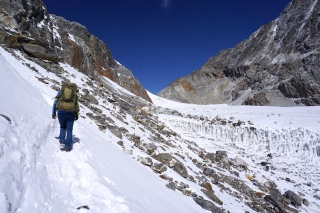 Weg zum Gletscher.