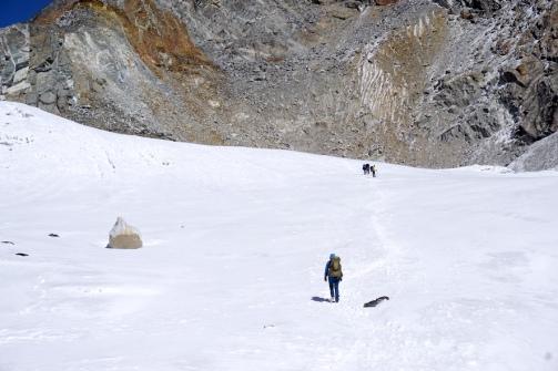 Auf dem Cho La Gletscher.