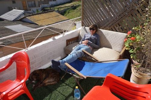 Entspannen auf der Terrasse.